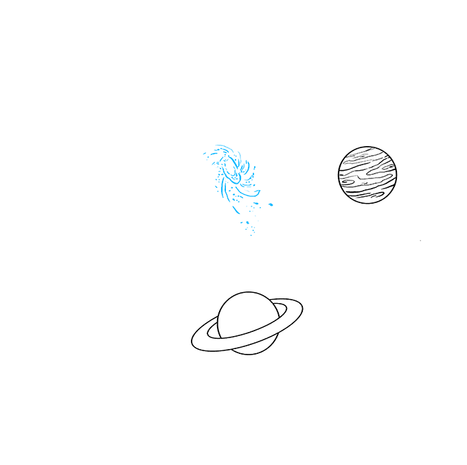 How to Draw Space and Planets Step 06