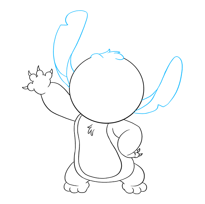 How to Draw Stitch from Lilo and Stitch: Step 8