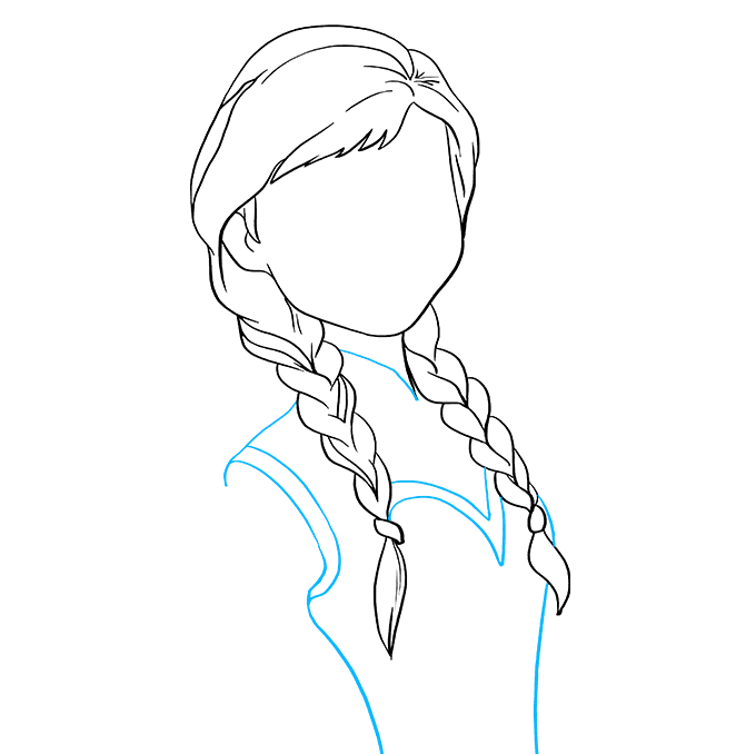 How to Draw Anna from Frozen: Step 5