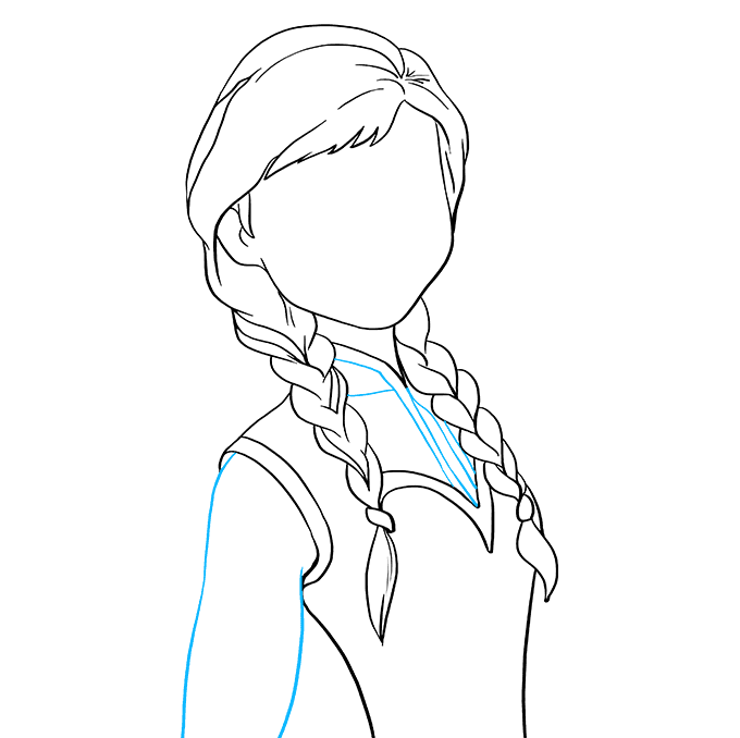How to Draw Anna from Frozen: Step 6