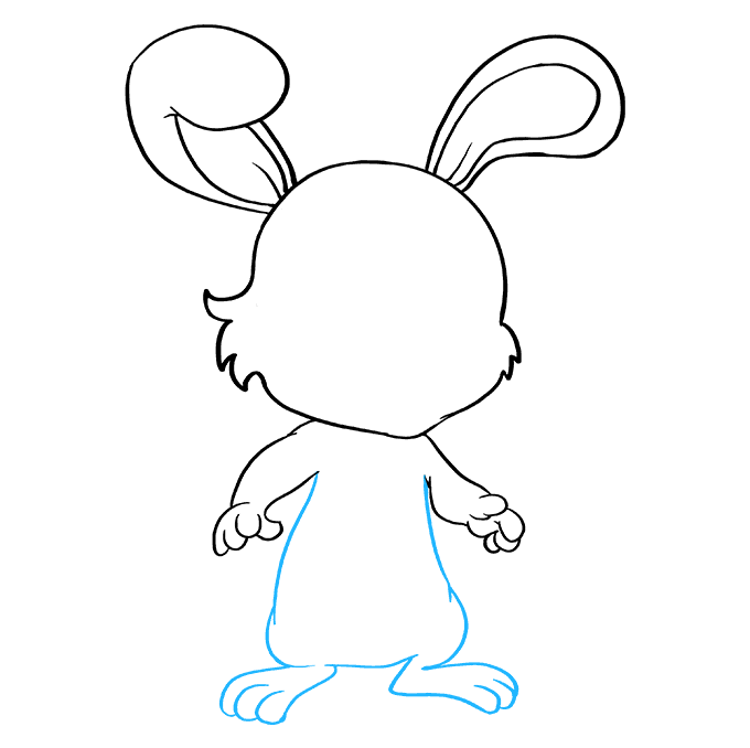 How to Draw Baby Bunny: Step 7