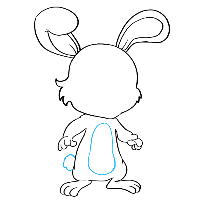 How to Draw Baby Bunny: Step 8