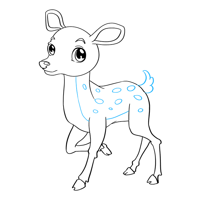 How to Draw Baby Deer: Step 9