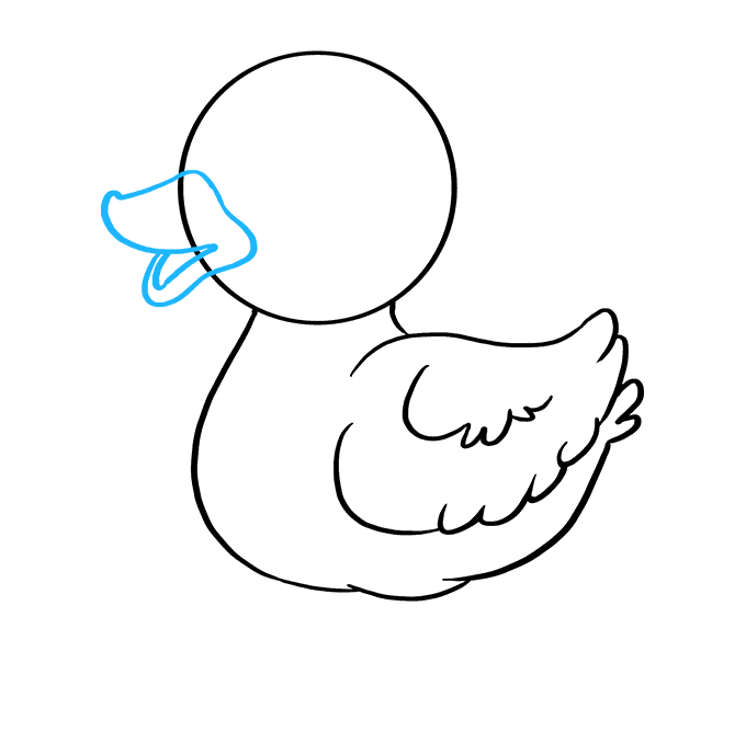 How to Draw Baby Duck: Step 5