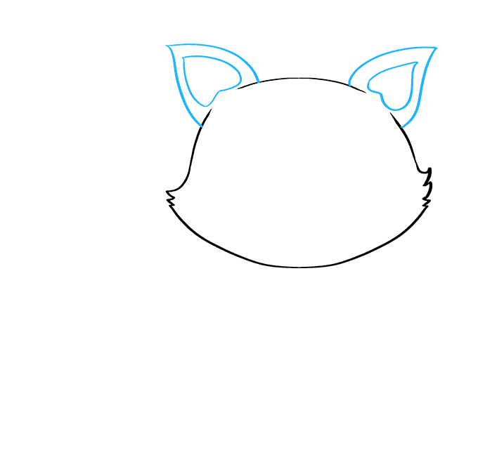 How to Draw Baby Fox: Step 2