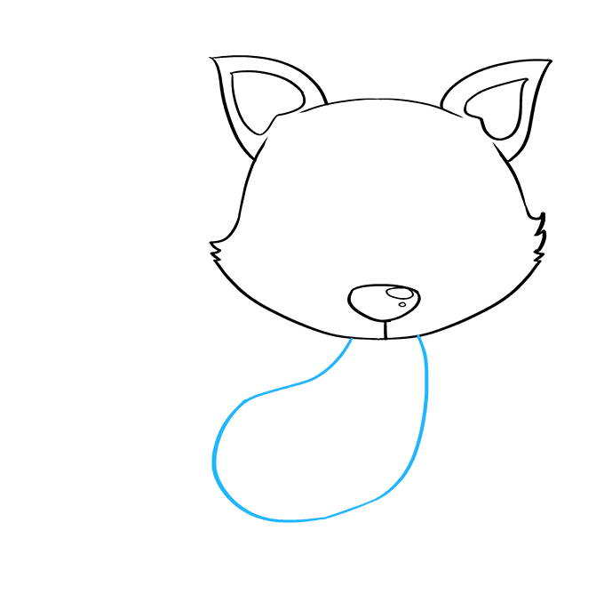 How to Draw Baby Fox: Step 4
