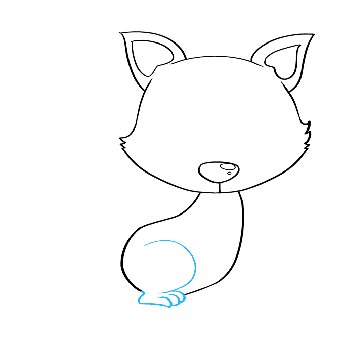 How to Draw Baby Fox: Step 5