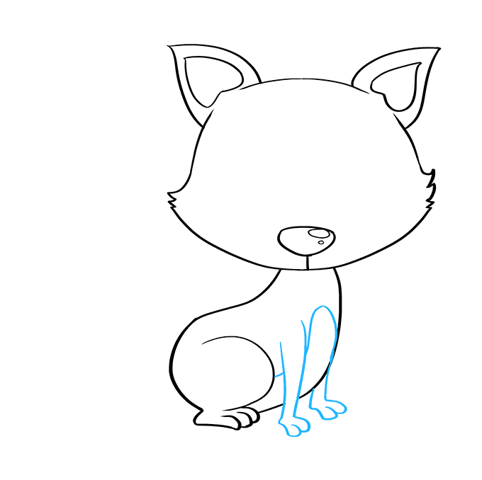 How to Draw Baby Fox: Step 6