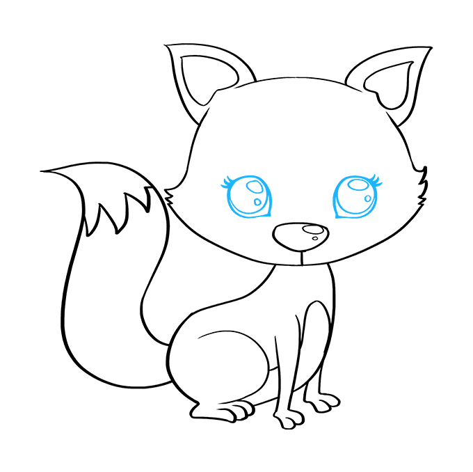 How to Draw Baby Fox: Step 8