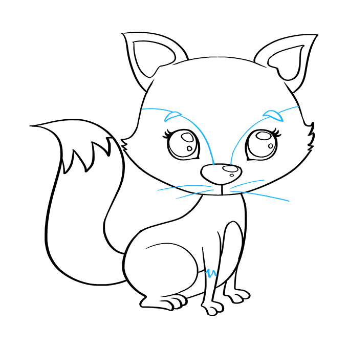 How to Draw Baby Fox: Step 9