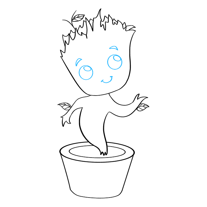 How to Draw Baby Groot: Step 8