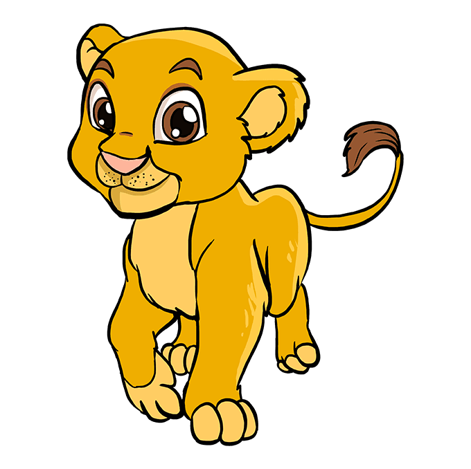 How to Draw Baby Lion: Step 10