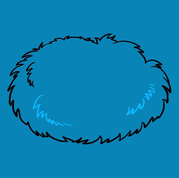 How to Draw Bird Nest: Step 3