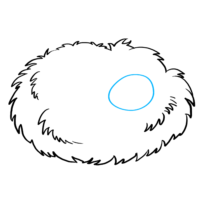 How to Draw Bird Nest: Step 4