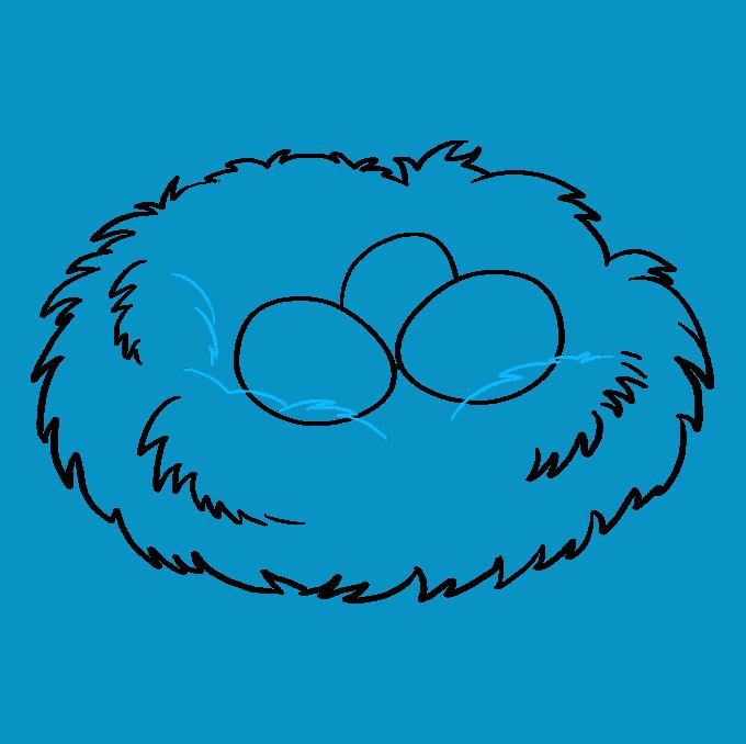 How to Draw Bird Nest: Step 7