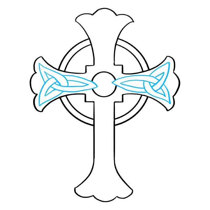 How to Draw a Celtic Cross Step 07