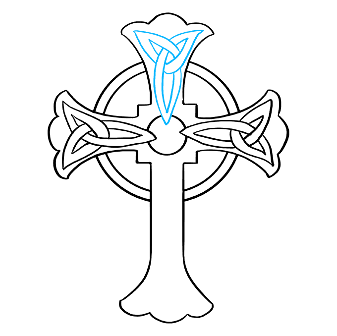 How to Draw Celtic Cross: Step 8