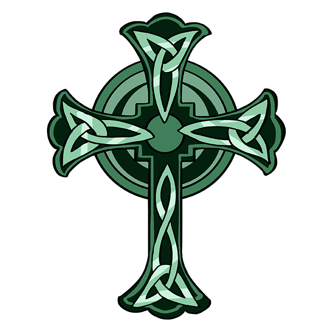 How to Draw Celtic Cross: Step 10