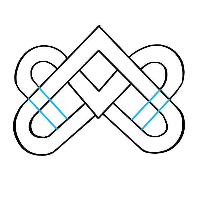 How to Draw Celtic Knot: Step 6
