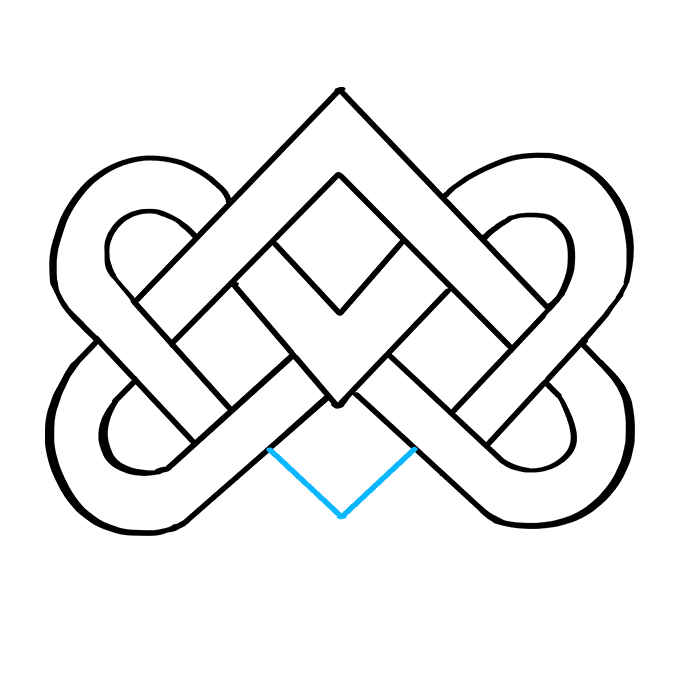 How to Draw Celtic Knot: Step 8