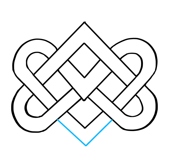 How to Draw Celtic Knot: Step 9