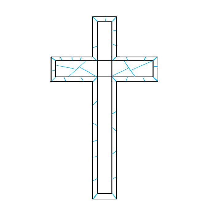 How to Draw Cross: Step 6