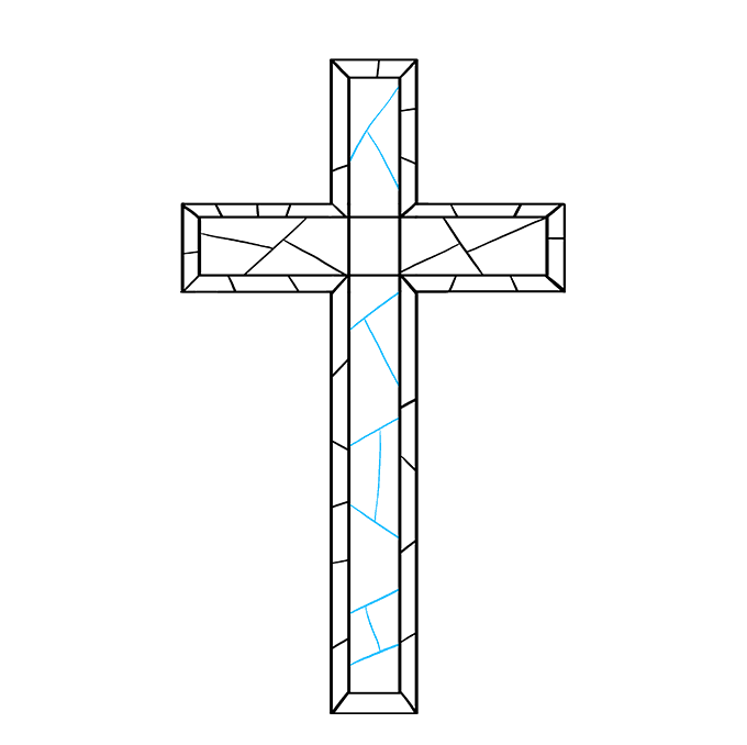 How to Draw Cross: Step 7