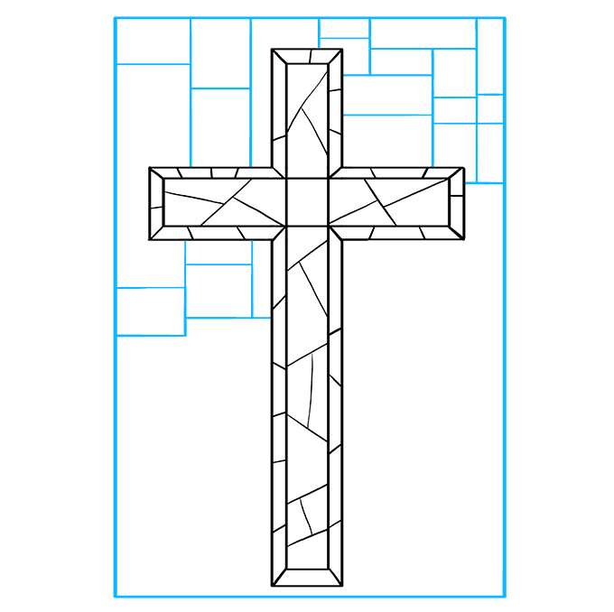 How to Draw Cross: Step 8