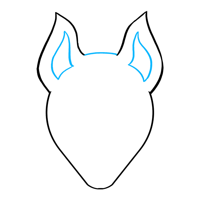 How to Draw Drift Mask from Fortnite: Step 4