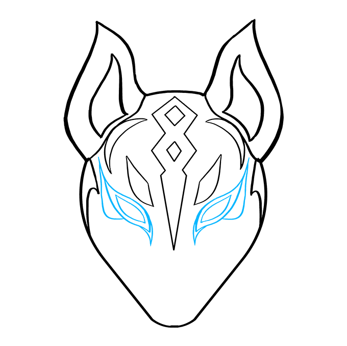 How to Draw Drift Mask from Fortnite: Step 8