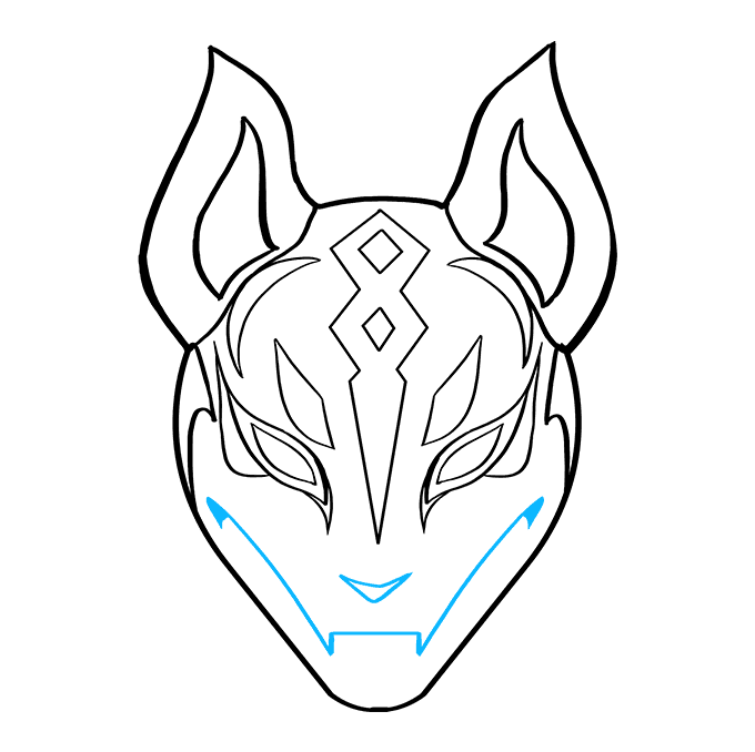 How to Draw Drift Mask from Fortnite: Step 9