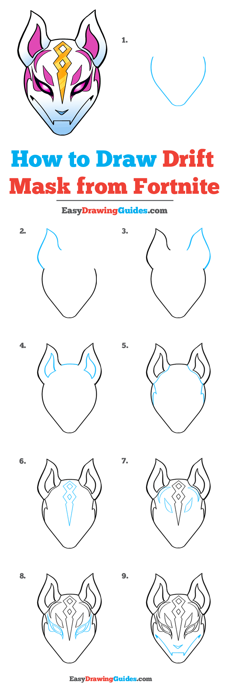 How to Draw Drift Mask from Fortnite