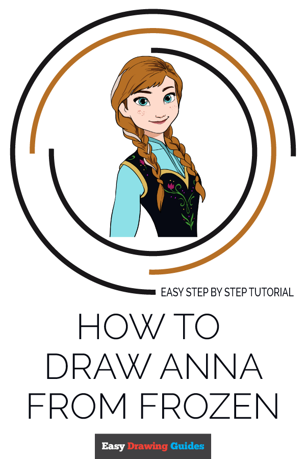 How to Draw Anna from Frozen | Share to Pinterest