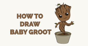 How to Draw Baby Groot Featured Image