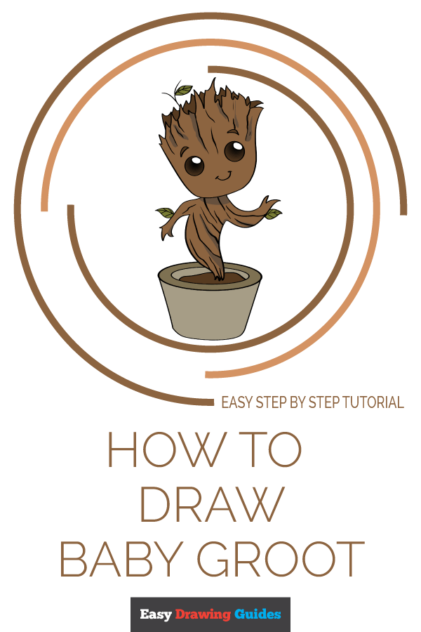 How to Draw Baby Groot - Really Easy Drawing Tutorial