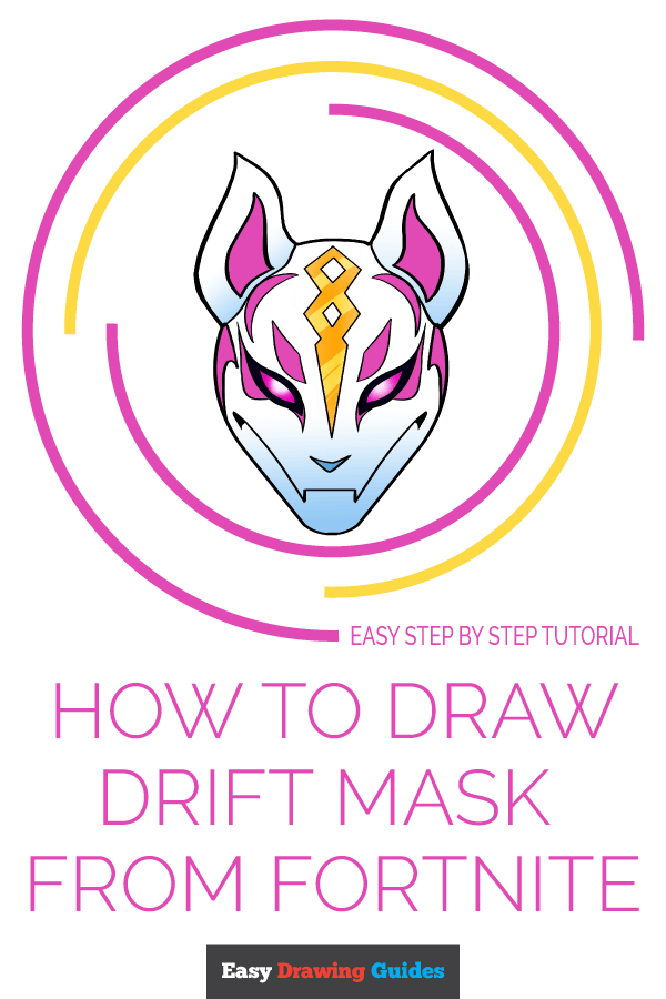 How to Draw Drift Mask from Fortnite | Share to Pinterest