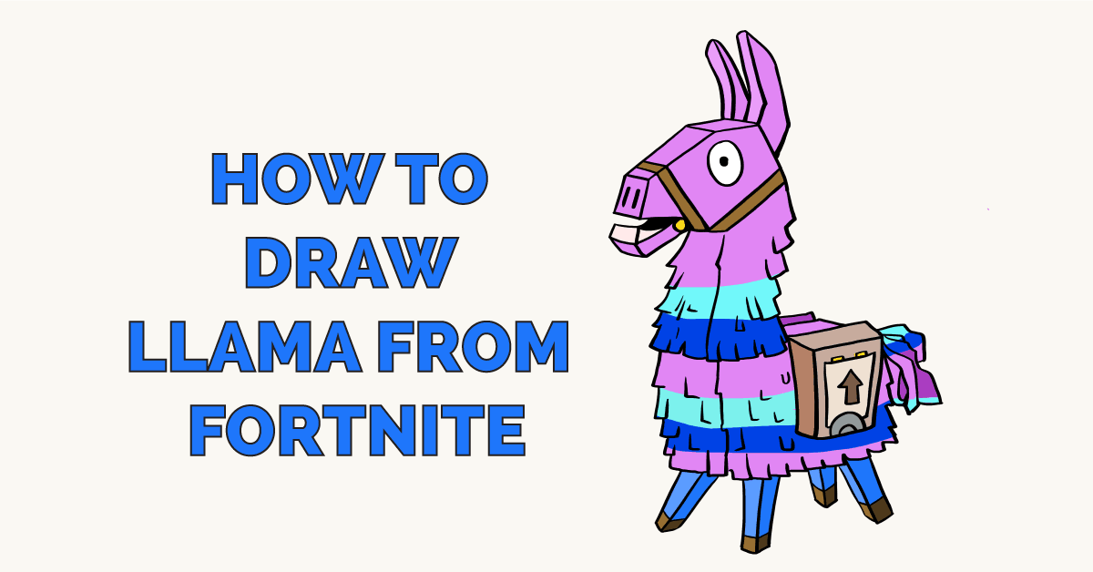 How To Draw Llama From Fortnite Really Easy Drawing Tutorial