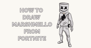 How to Draw Marshmello from Fortnite Featured Image