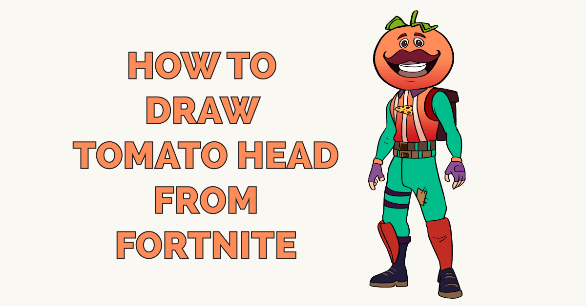 How to Draw Tomato Head from Fortnite Featured Image