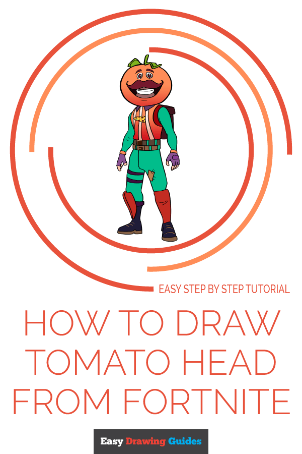 How to Draw Tomato Head from Fortnite | Share to Pinterest