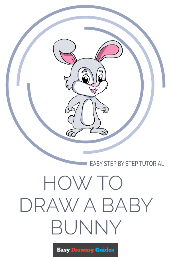 How to Draw Baby Bunny | Share to Pinterest