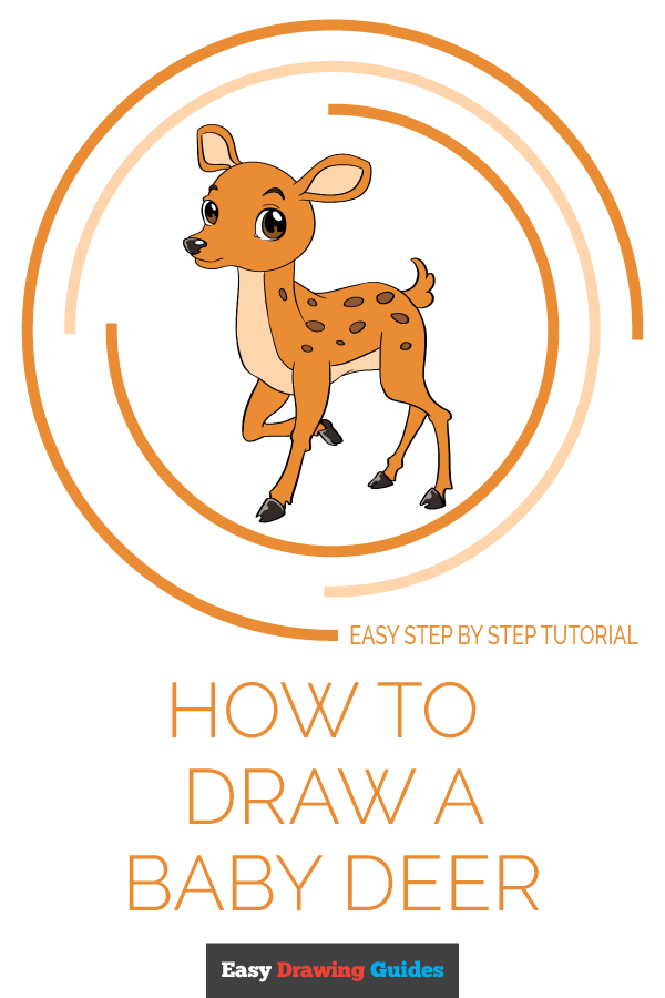 How to Draw Baby Deer | Share to Pinterest