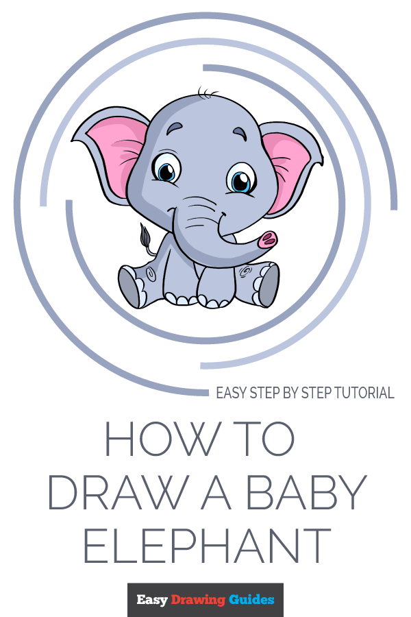 How to Draw Baby Elephant | Share to Pinterest