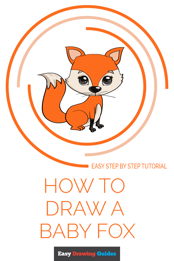 How to Draw Baby Fox | Share to Pinterest