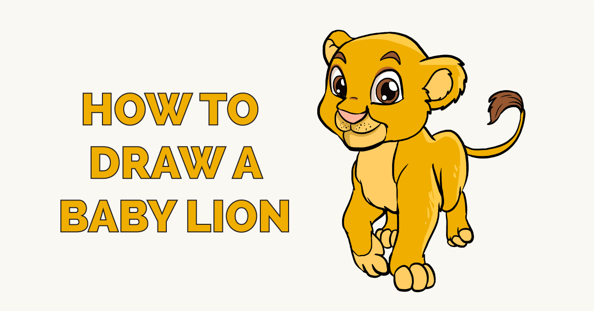 How To Draw A Baby Lion Really Easy Drawing Tutorial Adia also has periodic access outside. how to draw a baby lion really easy