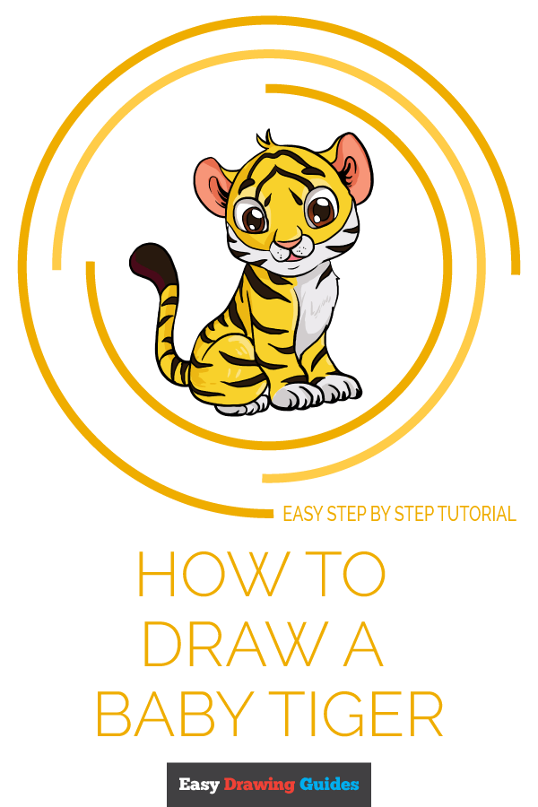 How to Draw Baby Tiger | Share to Pinterest