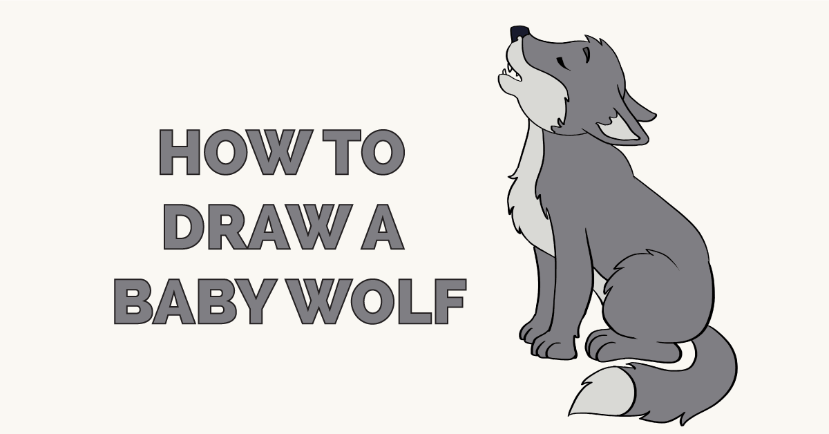 How to Draw a Baby Wolf Featured Image