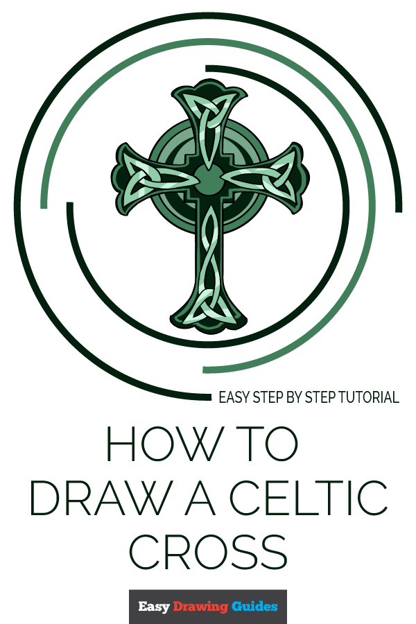 How to Draw a Celtic Cross Pinterest Image