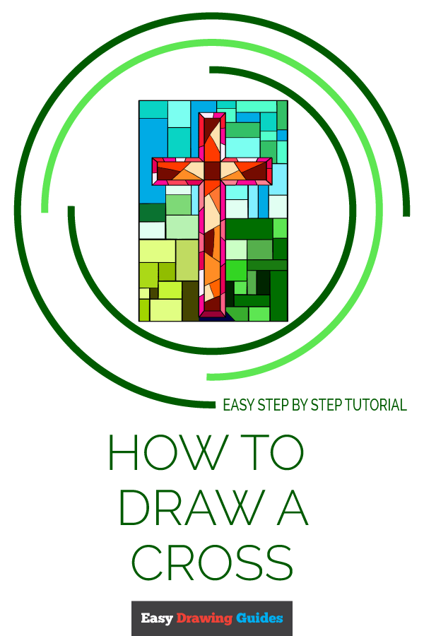 How to Draw Cross | Share to Pinterest