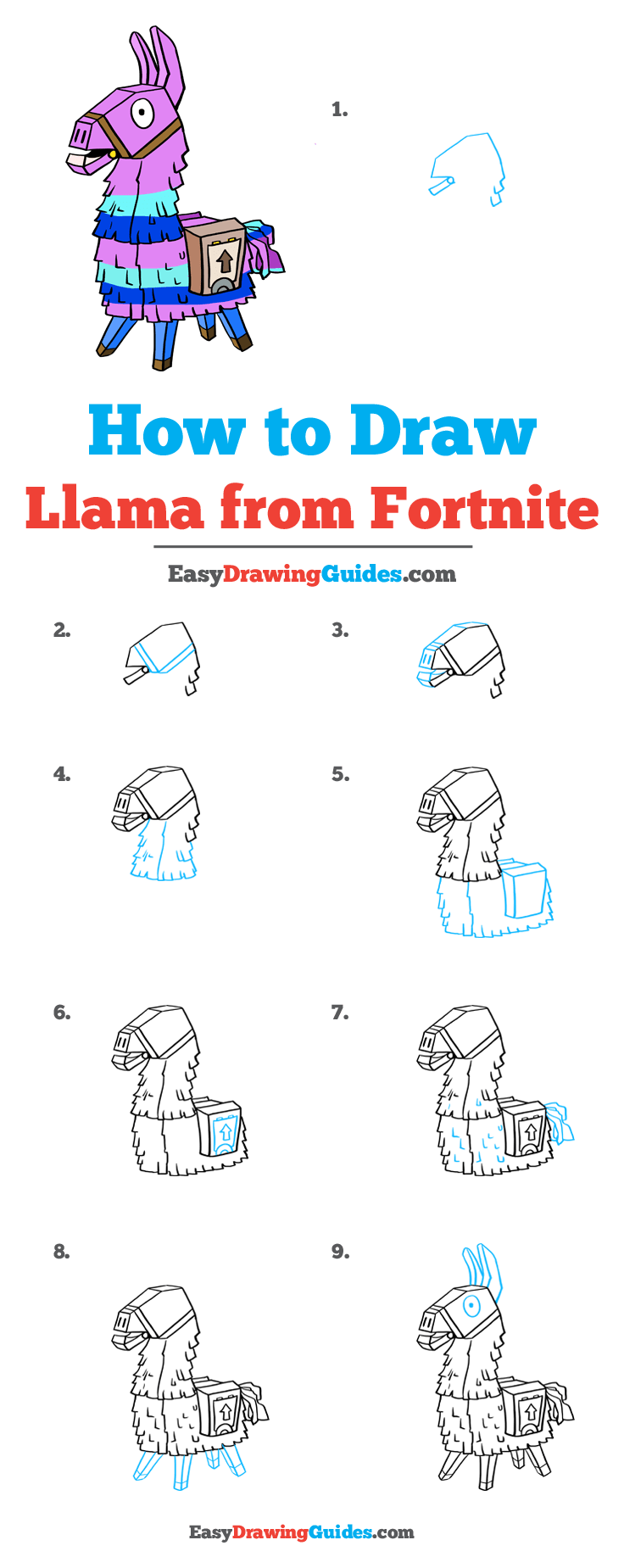 How to Draw Llama from Fortnite